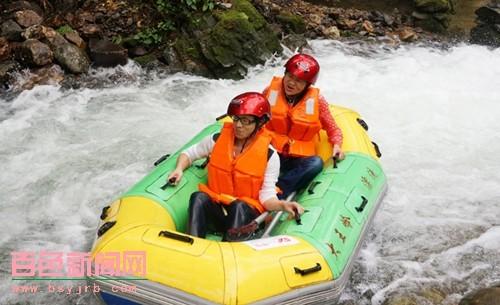 大王岭漂流今年首漂即吸引众多游客
