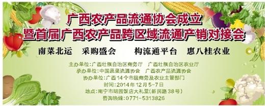 广西农产品流通协会成立暨首届广西农产品跨区域流通产销对接会