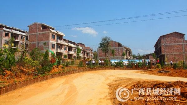 田阳县扶贫生态移民工程项目新立广新家园新旧对比