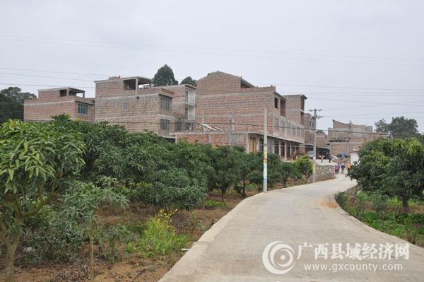 田阳县坡洪镇陇升村个强屯易地扶贫搬迁项目新旧对比