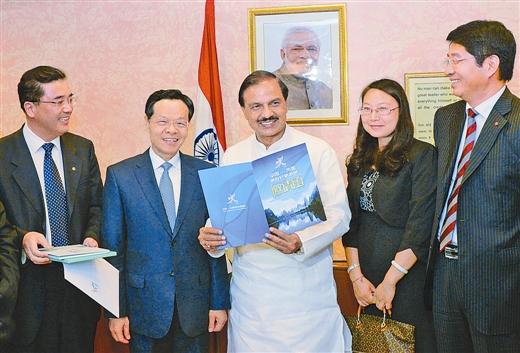 陈武率团在印度宣传推介广西旅游 促进游客双向流动