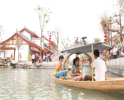 高歌猛进,田州古城一期旅游核心区初步形成