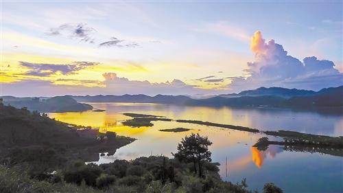 横县西津国家湿地公园:山环水抱 白鹭齐飞