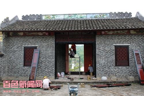 西林投入500万元修缮岑氏家族古建筑群