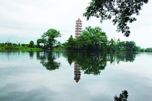 临桂五通浮洲塔