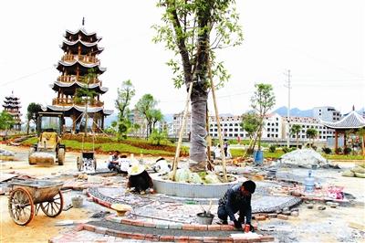 都安县安东公园项目在如火如荼建设中