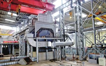 博白龙潭产业园镍合金项目二期炼钢车间即将竣工投产