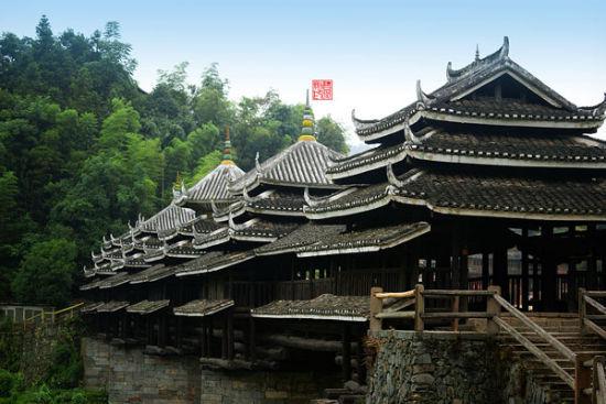 三江: 侗寨有寨必有楼 有河必有桥