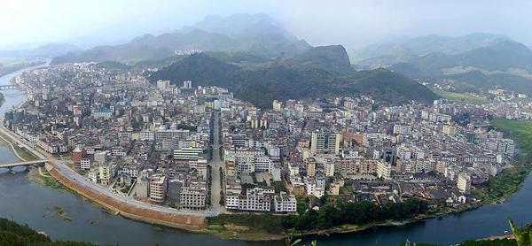 灌阳县城全景