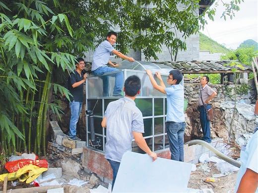 [隆林县]农村试行便携式组装沼气池:沼气池可组装 补贴多真划算