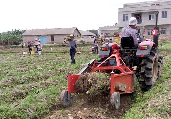 农机手正使用土豆采收机帮助种植户收土豆.jpg