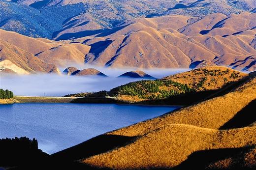 全州县天湖景区的云海奇观