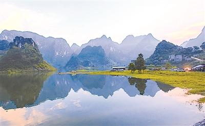 百色浩坤湖景区:高山神湖 仙境难遇