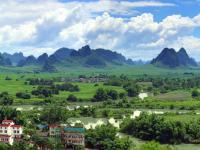 崇左江州区黑水河全景