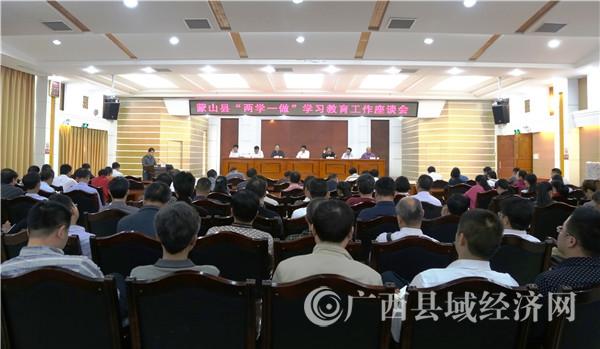 """蒙山县召开""""两学一做""""学习教育工作座谈会"""