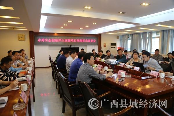 蒙山县召开水秀古镇健康养生度假项目规划征求意见会
