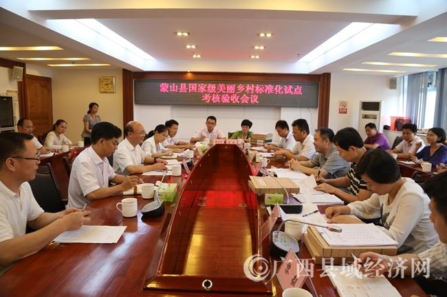[蒙山县]通过国家级美丽乡村标准化试点项目考核验收