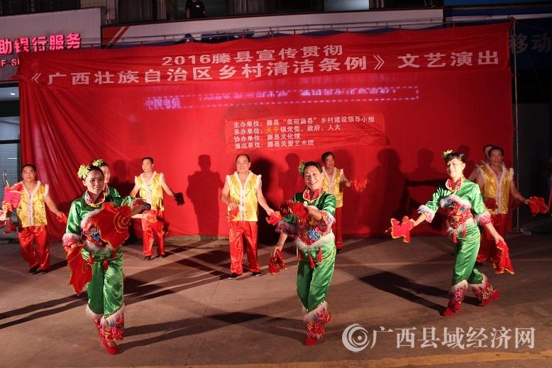 《广西壮族自治区乡村清洁条例》文艺演出走进天平镇