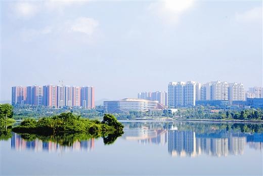 梧州风景素描画