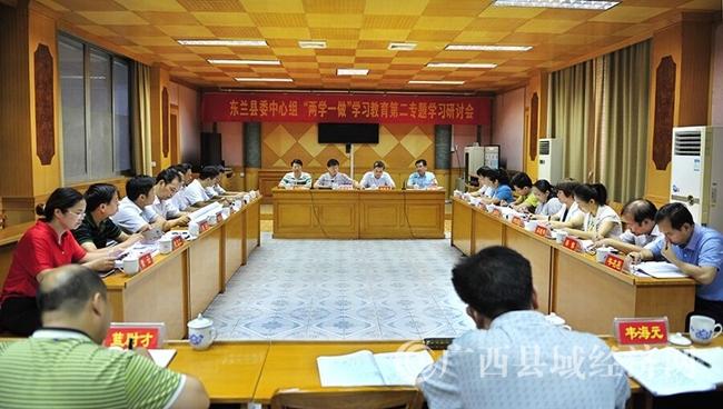 """东兰县召开中心组""""两学一做""""学习教育第二专题研讨会"""