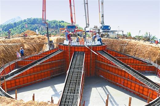 [兴业县]中广核兴业风电项目进入基础设施安装阶段