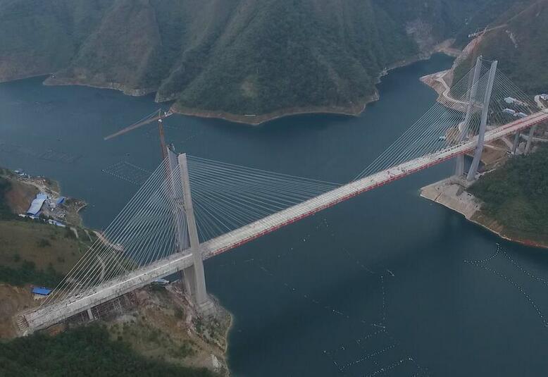 红水河特大桥合龙 打破黔桂交通瓶颈