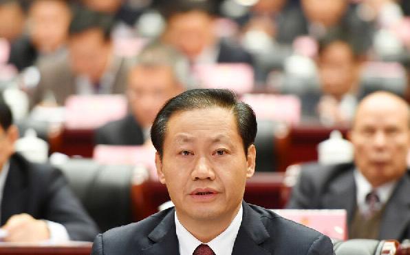 自治区党委书记彭清华在开幕大会上作重要讲话