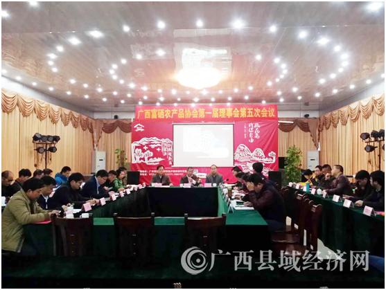 县促会参加广西富硒农产品协会第一届理事会第五次会议