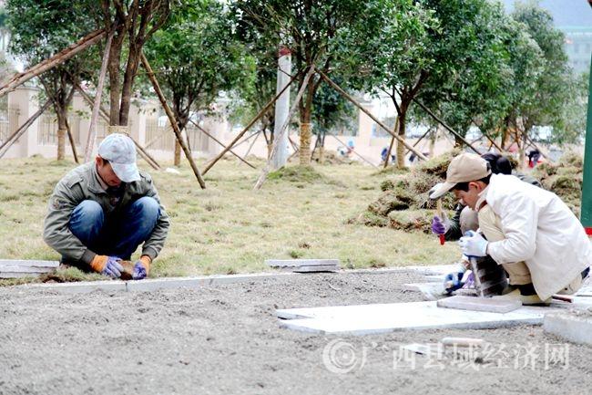 大化江滨文化公园设施日趋完善