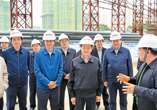 陈武在南宁调研时强调:以重大项目为抓手加快提升建设发展水平