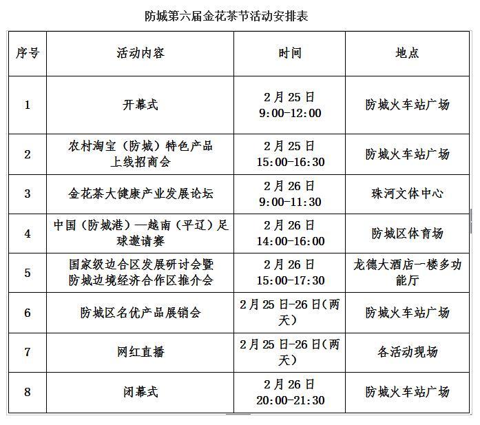 约吗?防城第六届金花茶节周末开幕