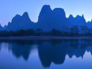 漓江杨堤段风光