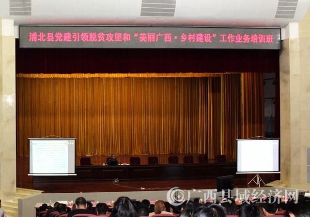 浦北县举办党建引领脱贫攻坚和乡村建设业务知识视频培训班