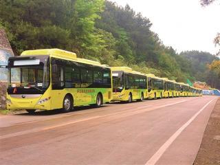 环江:混合动力公交车驶进环江毛南族自治县城区