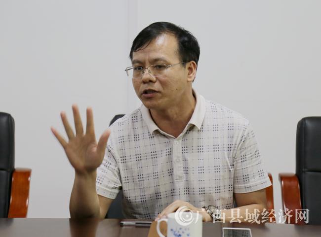 广西县促会副会长兼秘书长黄品优致词