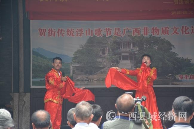 民间艺人表演采茶调