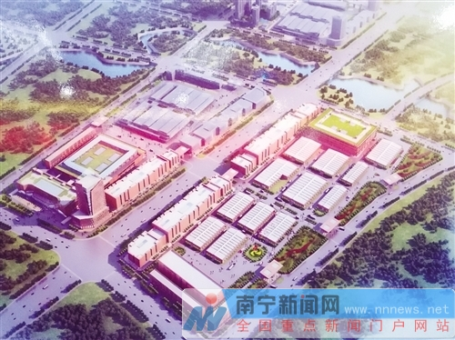 广西农业会展中心将封顶 建西南最大农产品交易区
