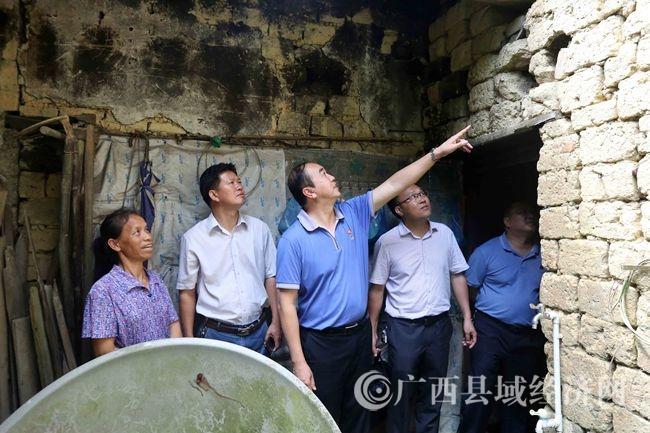 融安县委书记陈宏深入板榄镇慰问受灾群众调研精准扶贫