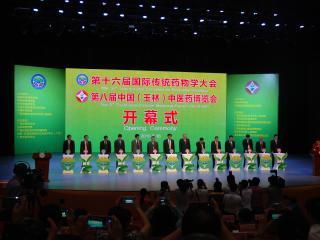 第十六届国际传统药物学大会、第八届中国(玉林)中医药博览会开幕式