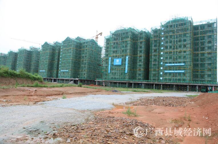 大化拿银安置区已建成20栋易地扶贫搬迁楼