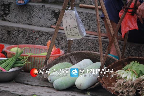 """荔浦大冲口村""""无人菜市""""一卖20年 无人看守自己投钱"""