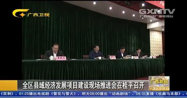 全区县域经济发展项目建设现场推进会在桂平市召开
