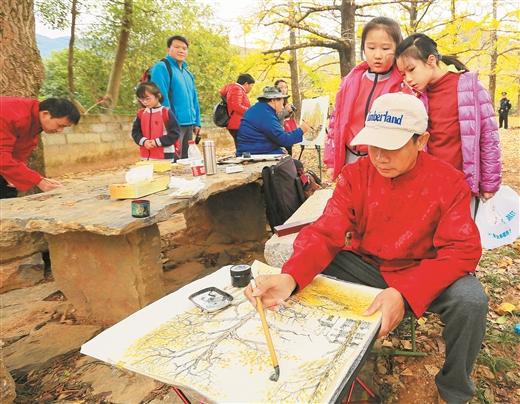 灵川海洋乡:又见银杏满地黄