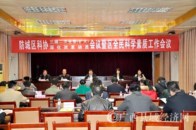 防城区科协三届二次全委(扩大)会议召开