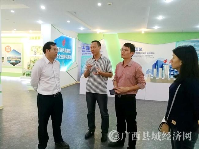 黄品优率广西县域创强争先工作领导小组赴田阳县调研