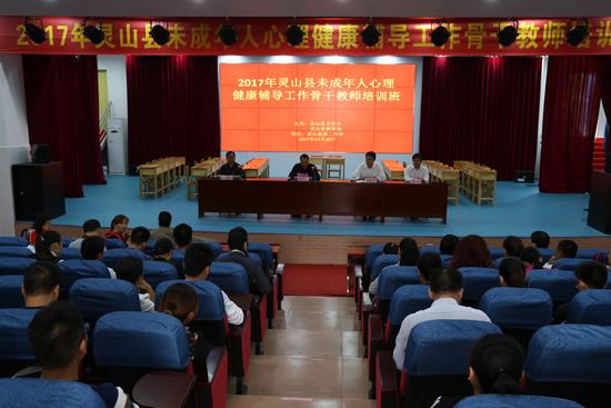 灵山县举办未成年人心理健康辅导工作骨干教师培训班