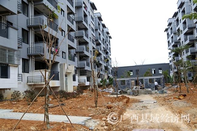 防城区积极筹措资金加快易地扶贫搬迁工程及相关配套设施建设。(许文雄 摄)