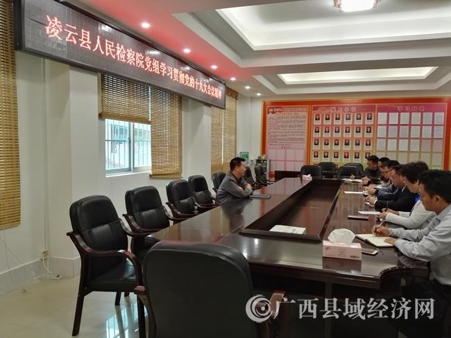 06县检察院党组集中学习贯彻党的十九大精神会。罗俊摄