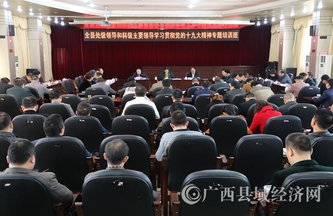 08全县处级领导和科级主要领导学习贯彻党的十九大精神专题培训班。黄元荣摄