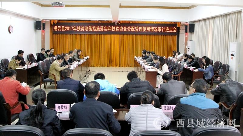 凌云县召开2017年扶贫政策措施落实和扶贫资金分配管理使用情况审计进点会